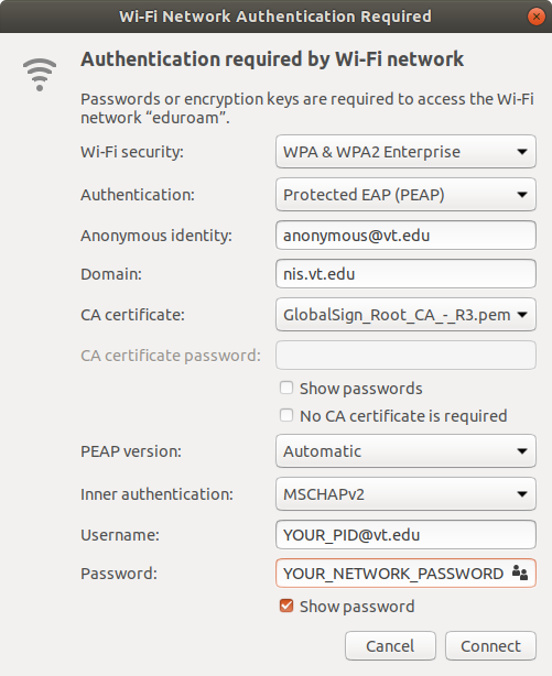 Wireless validating identity authentication